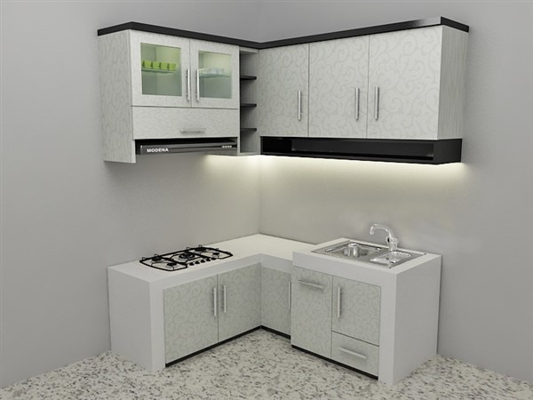 Kitchen set minimalis sederhana murah terbaru for Contoh kitchen set minimalis